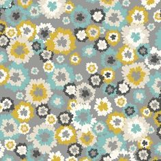 Khristian A Howell Fabric, Bryant Park Collection, Nolita Flowers in Stone from #hawthornethreads.  $8.75/yd.
