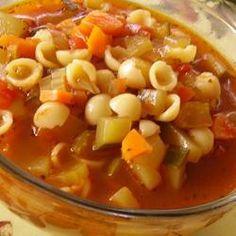 Soupe aux légumes à l'ancienne