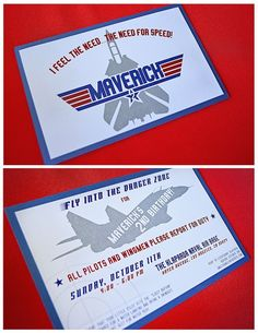 """When you name your son Maverick, you need to throw him a """"Top Gun"""" party. So we did just that and had a """"Top Gun"""" birthday party. Boy First Birthday, 1st Boy Birthday, Boy Birthday Parties, Birthday Ideas, Birthday Wishes, Air Force Birthday, Planes Birthday, Top Gun Party, Deck Party"""