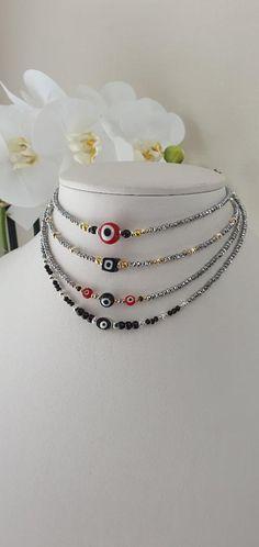 Silver Choker, Crystal Choker, Beaded Choker, Eye Jewelry, Jewelry Shop, Boho Jewelry, Etsy Handmade, Handmade Jewelry, Handmade Gifts
