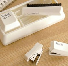office supplies stapler Picture - More Detailed Picture about Japan And  South Korea Stationery Shape Paper Clip Magnet+Punch+Stapler+Keyboard Brush  ... 4be742e77168