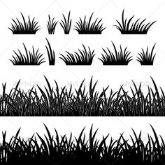 Buy Seamless Grass Silhouette by Alexokokok on GraphicRiver. Line seamless and set of grass, element for design, black silhouette isolated on white background. Vector EPS 8 plus . Grass Silhouette, Fairy Silhouette, Silhouette Painting, Black Silhouette, Silhouette Tattoos, Grass Clipart, Grass Vector, Grass Drawing, Fairy Jars