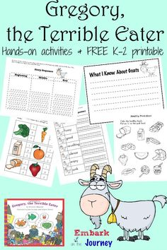 Gregory the Terrible Eater Read-Aloud Activities and FREE Printable