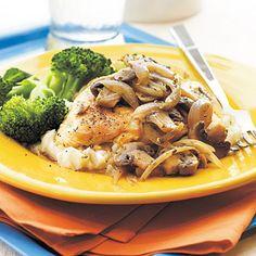 Mushroom-Herb Chicken - Healthy 5-Ingredient Chicken Recipes - Cooking Light