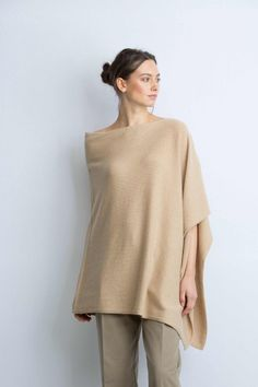 Cashmere Sandstorm Knitted Poncho