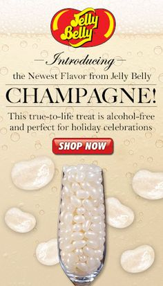 Celebrate the Holidays with the newest flavor from Jelly Belly: CHAMPAGNE! Just uncorked, this true-to-life treat is alcohol-free and perfect for holiday celebrations. Jelly Belly Flavors, Jelly Belly Beans, Jelly Beans, Wedding Stuff, Wedding Ideas, Champagne Cocktail, Candy Bars, New Flavour, Candy Shop