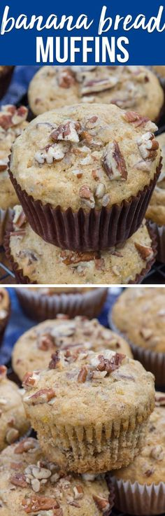 Banana Bread Muffins are so easy to make! This recipe is my favorite banana bread recipe made into banana nut muffins, perfect for breakfast or brunch! via @crazyforcrust