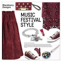 """Music Festival Style"" by shambala-379 ❤ liked on Polyvore featuring Otis, Alberta Ferretti, Converse, ZAC Zac Posen, Kat Von D and NYX"