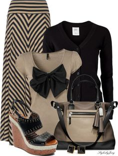 Love this, except for me, the bow has to go :) it's too big and it would swallow me up, I just know it! Great Fall outfit though!