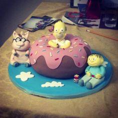 #simpsons cake Simpsons Cake, The Simpsons Show, Cake Cookies, Cupcake Cakes, Cupcakes, Rodjendanske Torte, Birthday Ideas, Birthday Parties, Best Sister