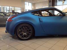 Matte Blue Nissan 370Z Nissan Z350, Nissan Z Cars, Nissan Silvia, Honda S2000, Honda Civic, Cafe Racer Seat, Good Looking Cars, Honda Element, Mitsubishi Lancer Evolution