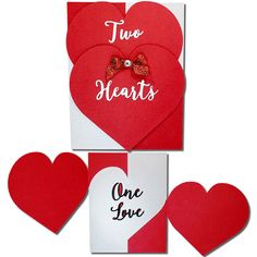JMRush Designs: Two Hearts One Love Card