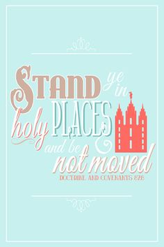 Printable Stand Ye In Holy Places Poster LDS by cardvarkdesigns, $12.00