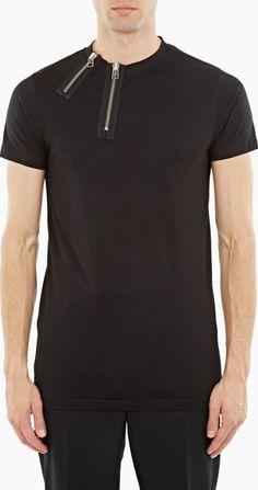 january 2017 6 matthew miller black zipped cotton marshall t shirt January, Polo Ralph Lauren, Mens Fashion, Zip, Mens Tops, Cotton, T Shirt, Black, Design