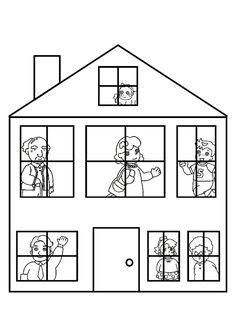 Kleurplaat Kamers In Het Huis Cartoon House Outline Clipart Best Inspiration Quilt