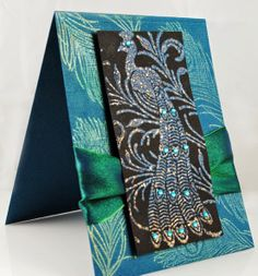 #cre8time for Royally Gorgeous Cards with @Pamela Hichens Hornschu  using #Stampendous #Peacock Feather and embossing powder plus #DreamweaverStencils Peacock with a new #Embossing Technique.