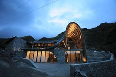 dEEP Architects' Cattle Back Mountain Volunteer House in China Combines Traditional Materials with Digital Design