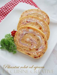 Salted Rolatići - Savory Chutney Rolls with Ham and Cheese.La Cuisine Creative. ideas for tasty appetizer (Google translation)