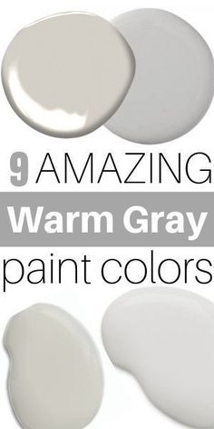 9 Amazing Warm Gray Paint Shades from Sherwin Williams Check out the best warm gray and greige paint shades. These neutral paint colors will work in almost any room and home decor style. They allow you to mix warms and cools together so you can decorate Greige Paint Colors, Bedroom Paint Colors, Paint Colors For Living Room, Interior Paint Colors, Paint Colors For Home, House Colors, Best Neutral Paint Colors, Warm Grey Paint, Taupe Gray Paint