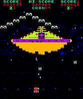 'Phoenix' arcade game. I could get close to an hour's worth of gameplay from one quarter, on THIS game!