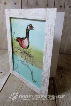Stamp & Scrap with Frenchie: Frame Card with the Wetland