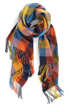 Free shipping and returns on RENEE'S ACCESSORIES Plaid Fringe Scarf at Nordstrom.com. Color-block plaid adds a charming splash of warmth to a versatile scarf tagged with flowing fringe.