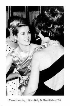 MONACO MEETING, Grace Kelly & Maria Callas ARTS POSTER 1962 24X36 Famous PIC