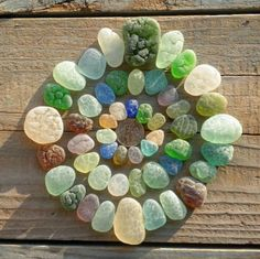 *Stone Mandala *stones are actually bits of glass smoothed by sand and time.