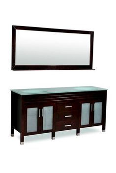 "Belmont Decor ""Dayton"" 72"" Espresso Double Sink Bathroom Vanity at Menards"