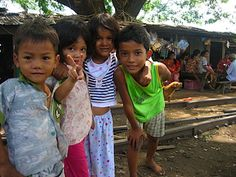 Children in Cambodia...