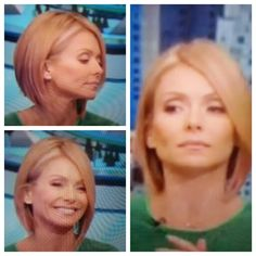 Kelly Ripa bob- Different views Medium Short Hair, Medium Hair Styles, Short Hair Cuts, Short Hair Styles, Kelly Ripa Hair, Good Hair Day, Great Hair, Short Hairstyles For Women, Bob Hairstyles