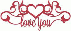 Silhouette Design Store - View Design love you flourish heart halloween shilouettes Silhouette Cameo Projects, Silhouette Design, Vinyl Crafts, Vinyl Projects, Silhouette Online Store, Wood Burning Patterns, Card Sentiments, Quilling Patterns, Scroll Saw Patterns