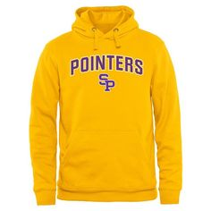 Wisconsin-Stevens Point Pointers Proud Mascot Pullover Hoodie - Yellow - $44.99
