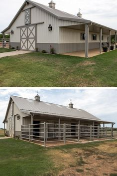pole barn designs Barn Houses Are Awesome! It have a lot of space. You can live there and hold animals or you can reconstruct it and use it only for living with amazing spacious rooms Horse Barn Plans, Pole Barn House Plans, Pole Barn Homes, Pole Barns, Small Horse Barns, Pole Barn Designs, Barn With Living Quarters, Barn Stalls, Horse Stalls
