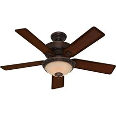This fan features a WhisperWind motor, installer's choice three-position mounting system and dual-armor blade coating that repels dust build-up. Able to be installed without a light kit, the fan uses included 40-watt candelebra bulbs.