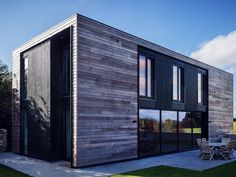 Kiss House is a modern Passivhaus flatpack made from CLT