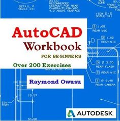 This book is packed with over 200 self-test exercises to help you learn drawing using AutoCAD. The exercises can be used on all versions of AutoCAD. Woodworking School, Learn Woodworking, Woodworking Projects Plans, Teds Woodworking, Woodworking Software, Woodworking Books, Woodworking Patterns, Learn Autocad, Photoshop