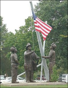 memorials all over the world november 06 2007 9 11 firefighters monument dedicated Hampshire, Wyoming, Iowa, 11 September 2001, Arkansas, Illinois, Kentucky, Alaska, Death Race