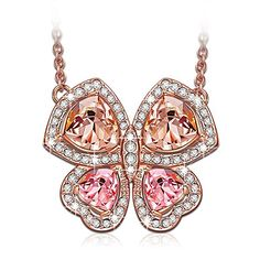 """LadyColour """"Butterfly Fairy"""" Pendant Necklace with Crystals From Swarovski,Girls Women Butterfly Necklace,great gift for wife,girlfriend,daughter on Birthday,Valentines day,Graduations,Christmas Day"""