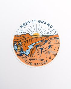 The Grand Canyon is one of the most beloved natural wonders on Earth. Tthis iconic canyon needs to be preserved and protected! Bubble Stickers, Cute Stickers, Phone Stickers, Printable Stickers, Badge Design, Logo Design, Outdoor Stickers, Aesthetic Stickers, Natural Wonders