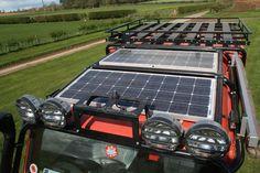 Resultado de imagen de installing a solar panel, land rover defender 110