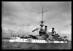 "USS Indiana circa 1903 - Detroit Publishing Co. - 5 x 7"" Photograph"