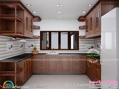 Design Interior Kitchen Home Kerala Modern House Kitchen Kitchen