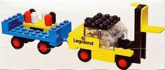 Construction Toy by LEGO Forklift with Trailer Vintage Lego, Lego Group, Legoland, Lego Sets, Old Things, Toys, Nostalgia, Childhood, Activity Toys