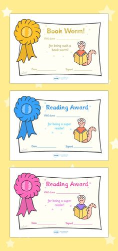 Free Printable Editable Reading Award Certificates                                                                                                                                                                                 More