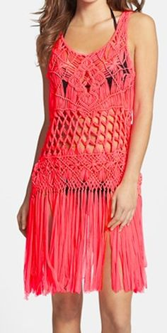 #Coral cover up dress http://rstyle.me/n/f4k2qnyg6