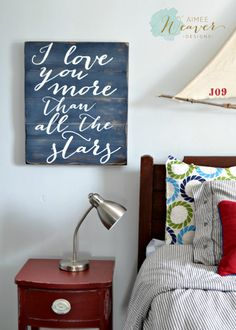"""""""I love you more than all the stars"""" Wood Sign {customizable}"""