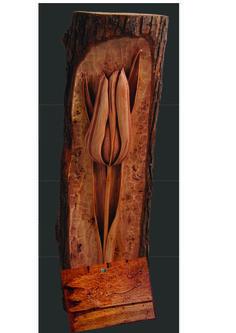 wood carving. tulip.alirezanoori