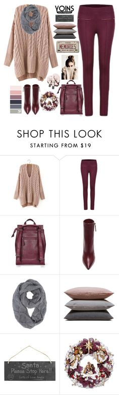 """Winter with YOINS"" by grozdana-v ❤ liked on Polyvore featuring Gianvito Rossi, Hawkins and yoins"