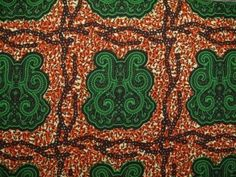 Fabric Godmother - Akra Wax Print Cotton - Green